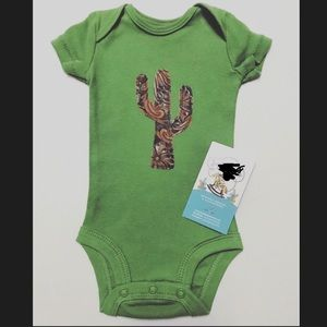 Other - Tooled leather inspired newborn onesie & booties